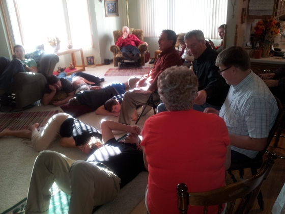Football and napping. A family tradition